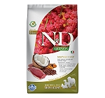 Farmina N&D Dry Dog Food Grain Free Quinoa Skin & Coat Duck Adult - 2.5 Kg (Pack Of 4)