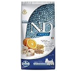 Farmina N&D Dry Dog Food Ocean Codfish and Orange Adult Mini Breed - 7 Kg