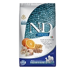Farmina N&D Dry Dog Food Ocean Codfish and Orange Adult Medium & Maxi Breed - 12 Kg