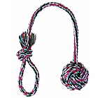 Trixie Playing Rope with Woven-in ball - Large