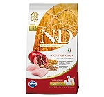 Farmina N&D Dry Dog Food Chicken & Pomegranate Adult Light Medium & Maxi Breed - 2.5 Kg