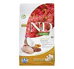 Farmina N&D Dry Dog Food Grain Free Quinoa Skin & Coat Quail Adult - 800 gm