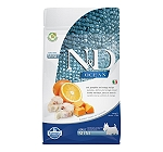 Farmina N&D Dry Dog Food Grain Free Ocean Pumpkin COD Fish & Orange Adult Mini - 2.5 Kg (Pack Of 4)