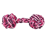 Trixie Rope Dumbbell, Various Colours - 20 cm