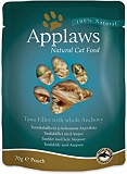 Applaws Cat Pouch Food Tuna Fillet With Whole Anchovy -70 gm (12 Pouches)