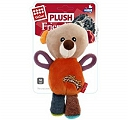 GiGwi Bear Plush Firends With Squeaker Dog Toy