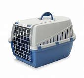 Savic Dog Carrier Trotter3 - Atl. Blue/Light Grey - Medium - (LxWxH - 60.9x40.6x38 cm)