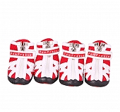 DogSpot Fashion Breathable Mesh Dog Shoes Red Size -3
