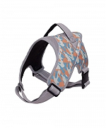 Ezra Hart Camouflage Dog Harness Size 60 - Orange