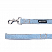 Mutt Of Course Stud Muffin Light Denim Leash - Medium