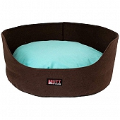 Mutt Of Course Basket Bed For Dogs -Brown - Medium