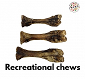BARF Dehydrated Bones Dog Treat - 3 pcs