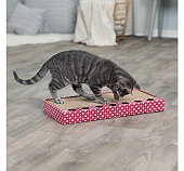 Trixie Cat Scratching Cardboard with Toys - Pink