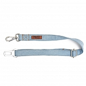 Mutt Of Cource Adjustable Car Seat Belt - Light Denim
