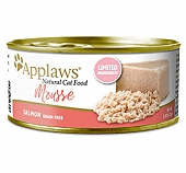 Applaws Cat Can Food Plain Salmon Mousse -70 gm (24 cans)