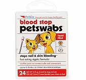 Petkin Blood Stop Petswabs - 24 Swabs