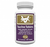 PetAg Taurine Tablets for Cats - 100 Tablets