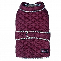 Mutt Of Course Pupberry Jacket Burgundy -2XLarge