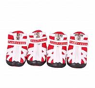 Dogspot Fashion Breathable Mesh Dog Shoes Red Size -2