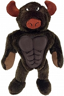 Petsport Six Packers Bull Plush Toy - 30 CM