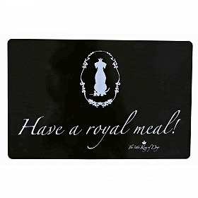 Trixie King of Dogs Place Mat Have a royal meal! Black -  44x28 cm
