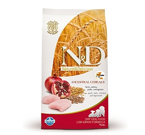 Farmina N&D Dry Dog Food Chicken & Pomegranate Puppy Mini Breed - 0.8 kg (Pack Of 10)