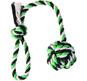 Trixie Playing Rope with Woven-in Ball - Small & Medium