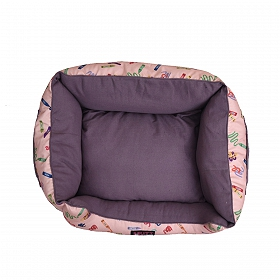 Mutt Of Course Lounger Bed For Dogs - Woofy Colours - Small