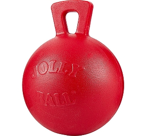 Jolly Pets Tug-n-Toss Ball Dog Toy Red - 11.4 cm