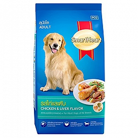 Smart Heart Dry Dog Food Chicken and Liver Adult - 10 kg