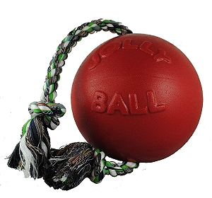 Jolly Pets Romp-n-Roll Ball Dog Toy Red - 11.4 cm