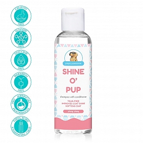 Papa Pawsome Shine O\' Pup Tear-Free Shampoo with Conditioner for Dog - 100 ml