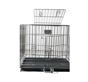 DogSpot Chrome Dog Cage Double Door XLarge- (LxWxH -36x22x22)