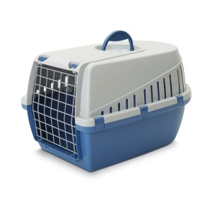 Savic Dog Carrier Trotter2 - Atl. Blue/Light Grey - Small - (LxWxH - 55.8x38.1x33 cm)