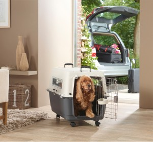 Savic Andes Dog Carrier 5 - Dark grey/Ivory - Large - (LxWxH - 78.7x55.8x58.4 cm)