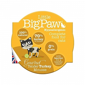 Little Big Paw Gourmet Poultry Mousse Selection Cat Food- 85 gm (Pack of 6)