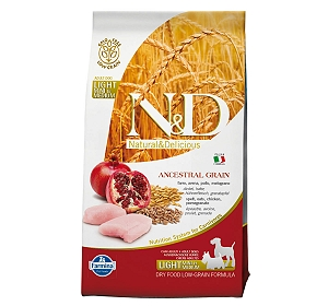 Farmina N&D Dry Dog Food Ancestral Grain Chicken & Pomegranate Adult Light Medium & Maxi Breed - 2.5 Kg