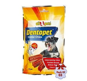 Dog Chew Dentopet - 75 gm (Pack Of 3)