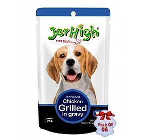 Jerhigh Chicken Grilled In Gravy Pouch - 120 gm (Pack Of  6)
