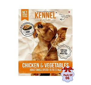 Kennel Kitchen Adult Small Breed Chicken & Vegetable - 300 gm (Pack Of 6)