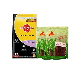 Pedigree Dog Food Puppy Small Breed Professional - 3 Kg  With Duck Slices