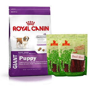 Royal Canin Giant Puppy - 4 Kg  With Duck Slices