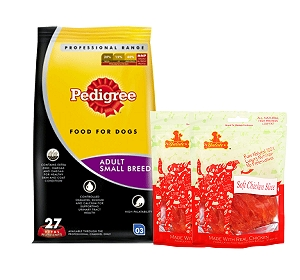 Pedigree Dog Food Adult Small Breed Professional - 3 Kg  With Chicken Slices