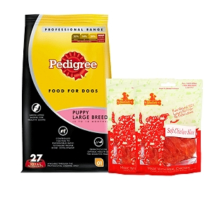 Pedigree Dog Food Puppy Large Breed Professional - 3 Kg  With Chicken Slices