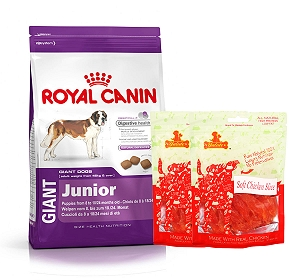 Royal Canin Giant Junior - 4 Kg  With Chicken Slices
