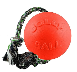 Jolly Pets Romp-n-Roll Ball Dog Toy Orange - 20.3 cm