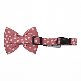 Mutt of Course Polka Pink Dog Bow Tie- Large