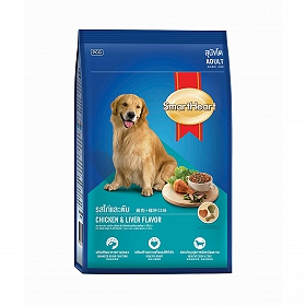 Smart Heart Dry Dog Food Chicken and Liver Adult - 1.5 kg