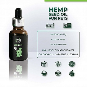 Cure By Design Hemp Seed Oil for Pets - 30 ml
