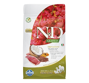 Farmina N&D Dry Dog Food Grain Free Quinoa Skin & Coat Duck Adult - 800 gm